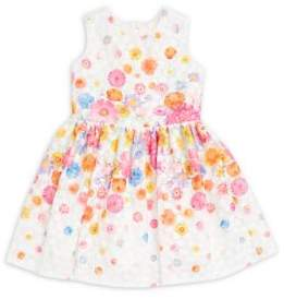 Halabaloo Little Girl's Floral-Print A-Line Dress