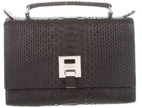 Michael Kors Python Top Handle Satchel - BLACK - STYLE