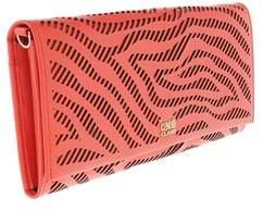 Roberto Cavalli Long Size Wlt W/strap Audrey 8 Coral Wallet