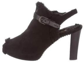 Henry Beguelin Shearling-Lined Slingback Booties