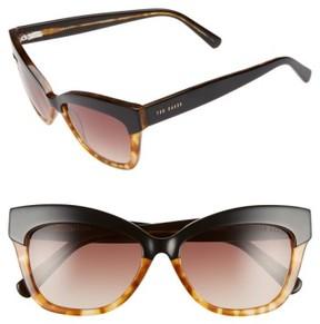 Ted Baker Women's 55Mm Cat Eye Sunglasses - Black/ Tortoise