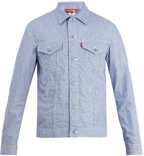 Junya Watanabe X Levi's patch-detail checked cotton jacket