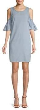 ABS by Allen Schwartz Elbow-Sleeve Cold-Shoulder Dress