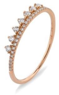 Bony Levy Women's 'Princess Crown' Stackable Diamond Ring (Nordstrom Exclusive)