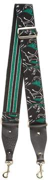 Valentino Panther-embroidered embellished bag strap