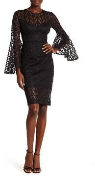 Alexia Admor Crochet Lace Bell Sleeve Dress