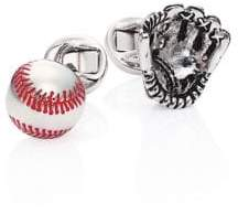 Saks Fifth Avenue COLLECTION Glove and Baseball Cuff Links
