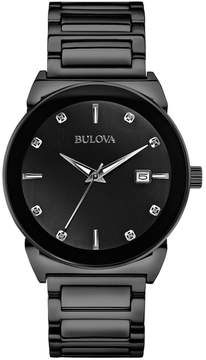 Bulova Men's Diamond Stainless Steel Watch - 98D121