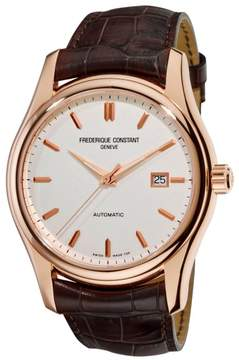 Frederique Constant Clear Vision FC-303V6B4 Rose Gold Tone Stainless Steel Automatic 43mm Mens Watch