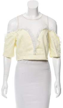 Alice McCall Sateen Frill Off-The-Shoulder Top w/ Tags