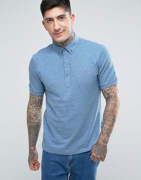 Farah Merriweather Short Sleeve Marl Polo Shirt in Blue