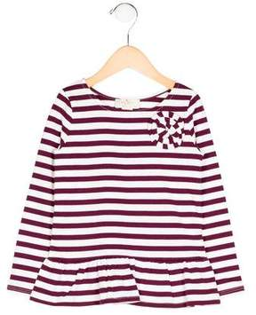 Kate Spade Girls' Appliqué-Accented Striped Top w/ Tags
