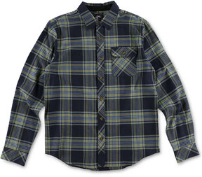 O'Neill Men's Watt Herringbone Yarn-Dyed Plaid Flannel Shirt