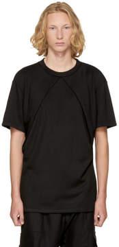 D.gnak By Kang.d Black Double Oblique T-Shirt