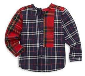Burberry Baby's& Toddler's Plaid Button-Front Cotton Shirt