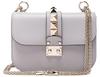 Valentino Small Lock Shoulder Bag in Gray.