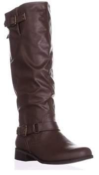 XOXO Moira Zip-up Knee-high Boots, Brown.