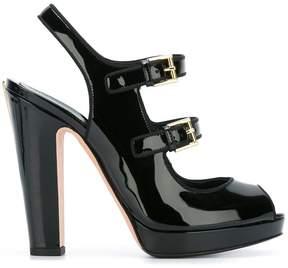 Alexander McQueen double buckle sandals