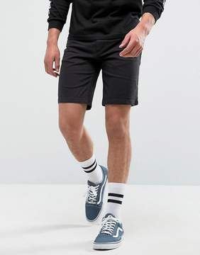 Pull&Bear Denim Shorts In Black