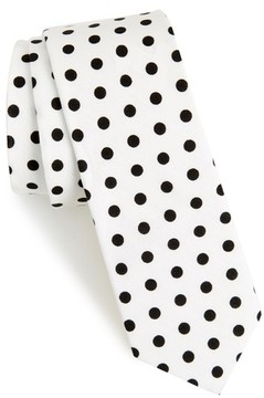 1901 Men's Montrose Dot Cotton Skinny Tie