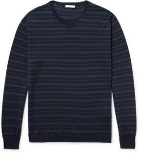 Boglioli Striped Virgin Wool And Silk-Blend Sweater