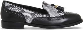 Office Ringo leather snake-embossed loafers