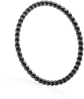 Myia Bonner Black Skinny Ball Stacking Ring