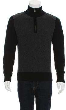 Belstaff Leather-Trimmed Wool Sweater