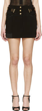 Anthony Vaccarello Black Chained Belt Mini Skirt