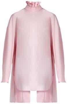 Ellery Runaways pleated-collar cotton shirt