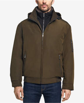 Weatherproof Men's Ultra Oxford Hooded Bomber Jacket