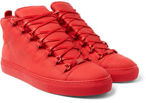 Balenciaga Suede And Leather High-Top Sneakers