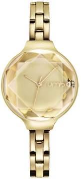 RumbaTime Orchard Gem Faceted Crystal Goldtone Stainless Steel Bracelet Watch