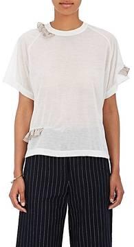 Kolor Women's Chiffon-Trimmed Semi-Sheer Jersey T-Shirt