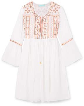Melissa Odabash Natalia Embroidered Voile Mini Dress - White