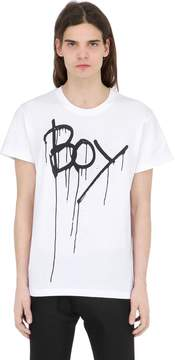 Boy London Boy Drip Printed Jersey T-Shirt