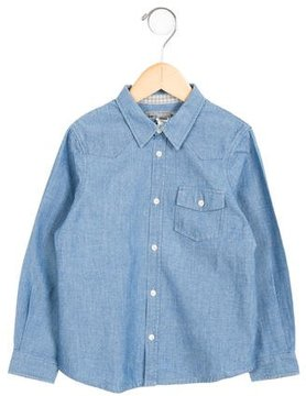 Bonpoint Boys' Chambray Button-Up Shirt