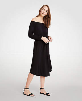 Ann Taylor Off The Shoulder Smocked Waist Dress