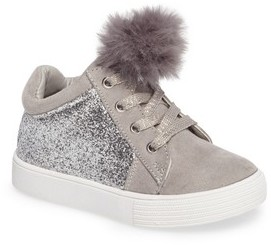Kenneth Cole New York Toddler Girl's Kam Kid Faux Fur Glitter Sneaker