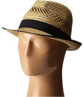 San Diego Hat Company SGF2013 Seagrass Fedora with Grossgrain Trim Fedora Hats