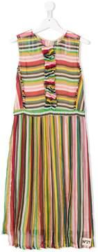 No.21 Kids TEEN striped dress