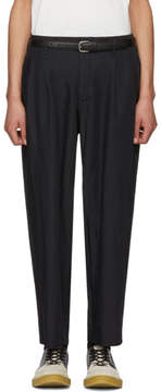 Comme des Garcons Navy Twill Trousers