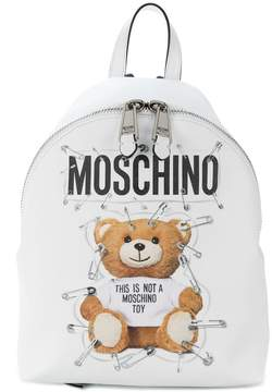 Moschino Teddy logo backpack