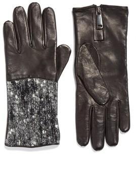 Fabiana Filippi Women's Pebble Tweed & Leather Gloves
