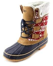 Khombu Womens Maya Cap Toe Mid-calf Cold Weather Boots.