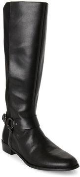 Tahari Black Robbie Tall Leather Boots