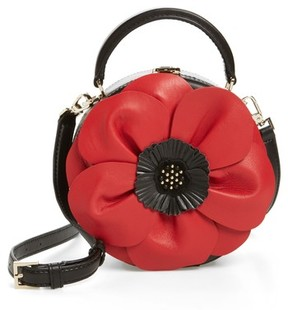 Kate Spade Ooh La La Poppy Leather Crossbody Bag - Red - RED - STYLE