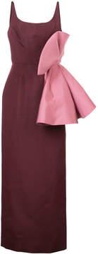 Christian Siriano bow detail dress