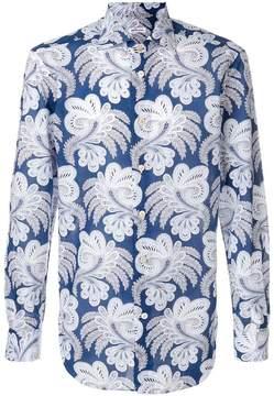 Kiton paisley print shirt