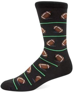 Hot Sox Football Knit Socks